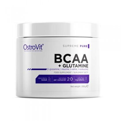 BCAA + Glutamine 200g Nitrogênio Muscular Ostrovit