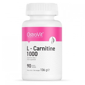 L-carnitine 1000 90 tabs Carnitina Efeito Ostrovit