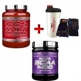 Packs Scitec Mega BCAA 1400 180 caps + Whey Protein Professional