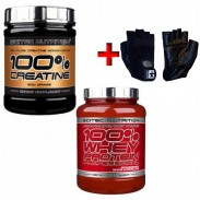 Packs whey Protein Professional + 100 Creatine Pure Scitec Nutrition