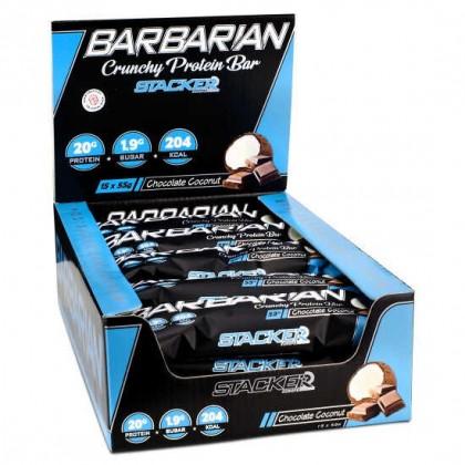 Barbarian Crunchy Protein Bar 55g Barra Stacker2