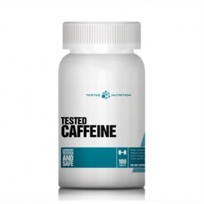 Caffeine 100 tabs 200mg Cafeina Tested Nutrition