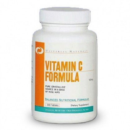 Vitamin C Formula 500mg 100 tabs Universal Nutrition