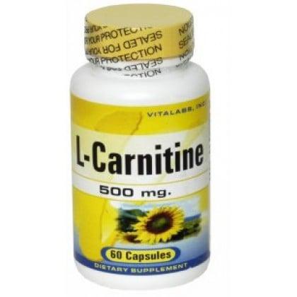 L-Carnitine 500mg 60caps Vitalabs