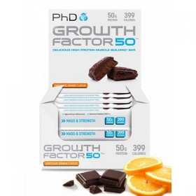 Growth Factor 50 Barra Proteina com 100g PhD