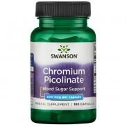 Chromium Picolinate 100 caps 200mcg Crómio Tomar Swanson