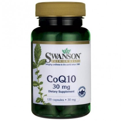 CoQ10 30mg 120 Caps Coenzima Ubiquinol Preço Swanson