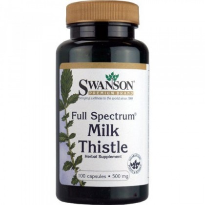 Milk Thistle 500mg 100 caps Evita Fígado Gordo Swanson