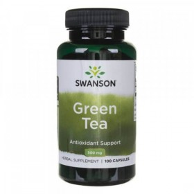 Green Tea 500mg 100 caps Chá Verde Swanson