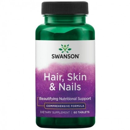 Hair Skin Nails 60 comprimidos Swanson - CorposFlex