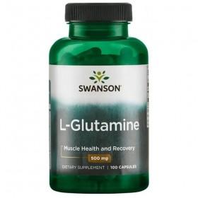L-glutamine 500mg 100 caps glutamina Swanson