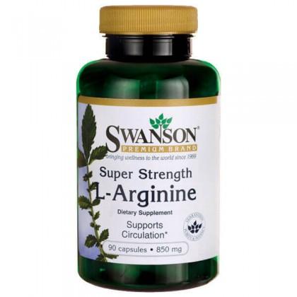 Arginine 90 caps 850mg Arginina Super Forte Swanson