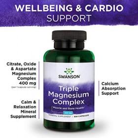 Triple Magnesium Complex 100 caps 400mg Swanson