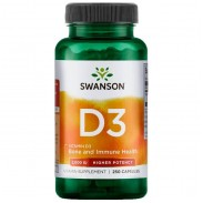 Vitamina D3 250 caps 2000 IU Beneficios Swanson