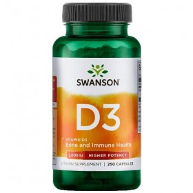 Vitamina D3 2000 U I250 caps Beneficios Swanson