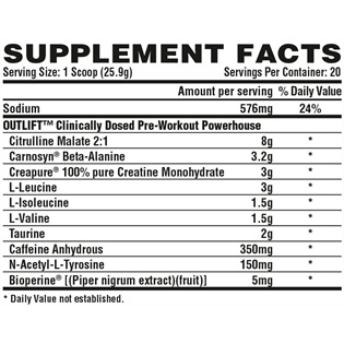nutrex-outlift-20-servings-pre-treino-supplement-facts